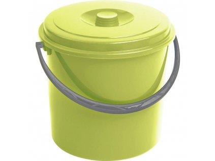 Zelený plastový kbelík s víkem 10 l CURVER
