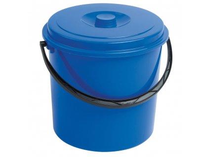 Modrý plastový kbelík s víkem 12 l CURVER