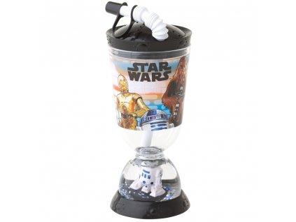 Láhev na pití s brčkem Star Wars 320 ml DISNEY