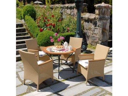 Kamenný zahradní stůl Como 100 cm PATIO