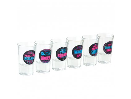 Sada 6 skleniček Disco na likér / vodku 35 ml
