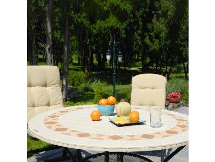 Kamenný zahradní stůl Roma Brown Design 125 cm PATIO