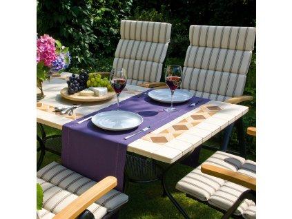 Kamenný zahradní stůl Roma Brown Design 160 x 90 cm PATIO