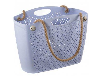 Plastová nákupní taška fialová BRANQ