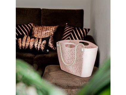 Plastová nákupní taška růžová BRANQ