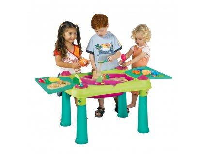 Dětský stůl / pískoviště na nožkách 56 x 79 x 50 cm KETER