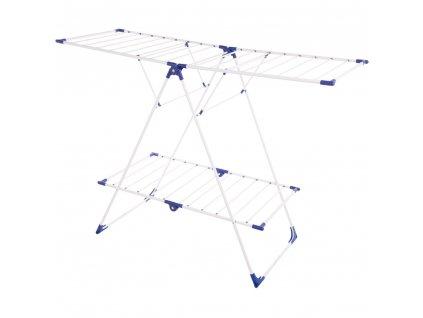 Sušák na prádlo Judyta White / blue 155,5 x 62,5 x 110 cm