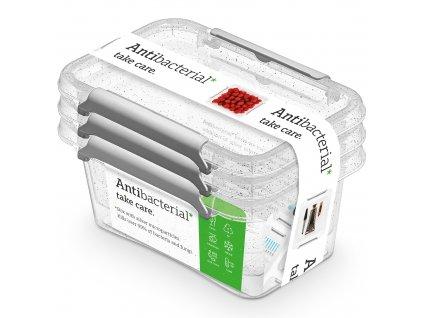 Sada 3 antibakteriálních nádobek Antibacterial* 500 ml ORPLAST