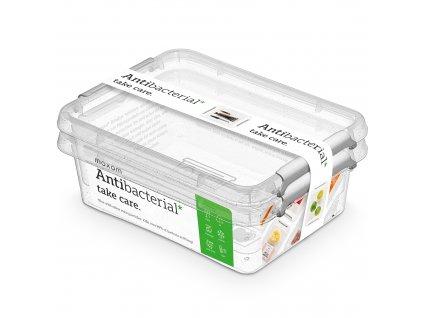 Sada 2 antibakteriálních nádobek Antibacterial* 1,15 l ORPLAST