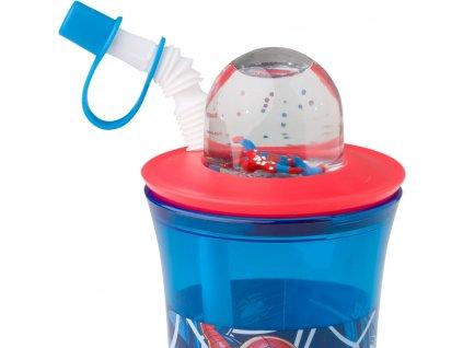 Sportovní láhev se slámkou a figurkou Spiderman Spidey 440 ml DISNEY