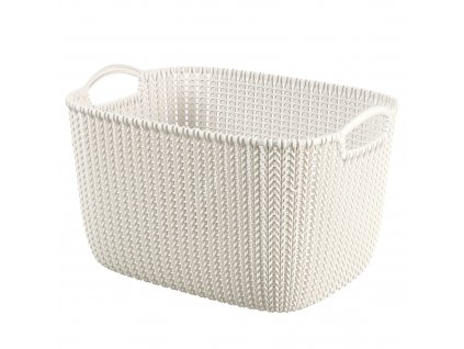 Plastový košík Knit Cream velikost L 40 x 30 cm CURVER