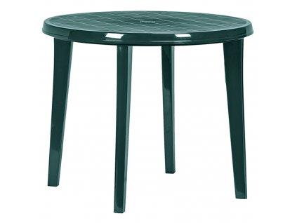 Kulatý plastový zahradní stůl Lisa Green 90 cm CURVER