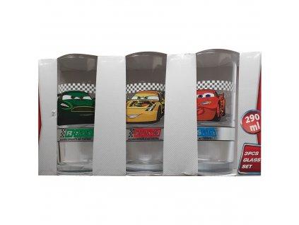Sada 3 skleniček Cars 290 ml DISNEY