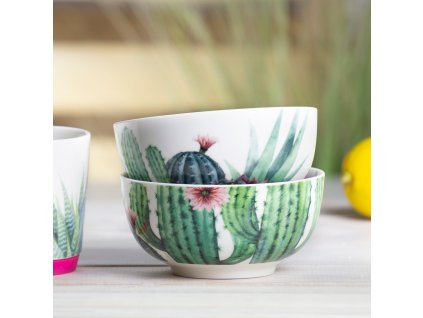 Porcelánová salátová mísa Cactus Kaktus 13 cm AMBITION