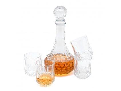 Karafa se čtyřmi sklenicemi Euforia 800 ml/200 ml
