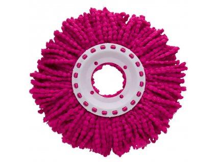 Růžová koncovka na rotační mop 16 cm