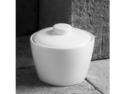 Porcelánová cukřenka s otvorem na lžičku Fala / Kubiko 200 ml AMBITION