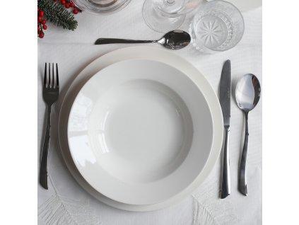 Porcelánový dezertní talíř Aura White 19 cm AMBITION
