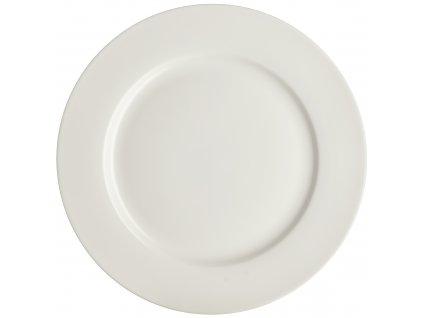 Porcelánový mělký talíř Aura White  27 cm AMBITION