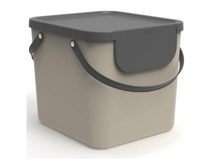 Odpadkový koš na tříděný odpad Albula Cappuccino 40 l ROTHO