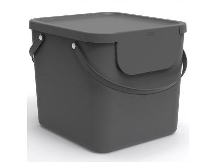 Odpadkový koš na tříděný odpad Albula Antracit 40 l ROTHO