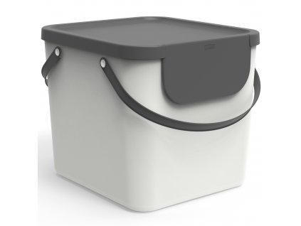 Odpadkový koš na tříděný odpad Albula White 40 l ROTHO