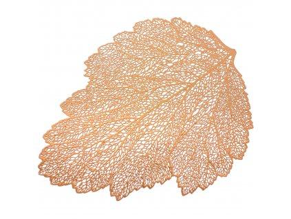 Podložka na stůl Glamour Leaf Copper PVC/PS  30 x 45 cm AMBITION