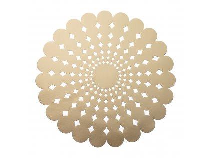 Kulatá podložka na stůl Glamour Flower Gold PVC/PS 38 cm AMBITION