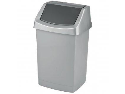 Odpadkový koš Click-it Silver-Grafit 25 l CURVER