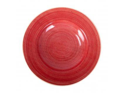 Porcelánový hluboký talíř Terra Red 30 cm ARIANE