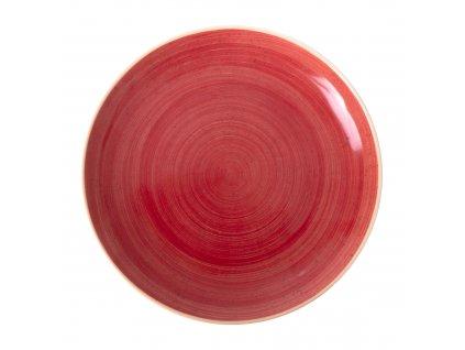 Porcelánový mělký talíř Terra Red 27 cm ARIANE