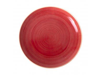 Porcelánový dezertní talíř Terra Red 21 cm ARIANE