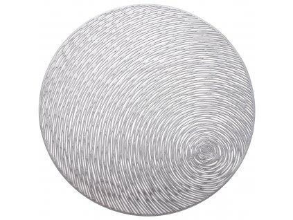 Kulatá podložka na stůl Glamour Stripes Silver PVC/PS 38 cm AMBITION
