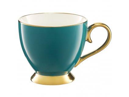 Porcelánový hrnek Royal Turquoise-Gold 450 ml AMBITION