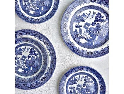 Jídelní servis Blue Willow Mint 18-dílů CHURCHILL