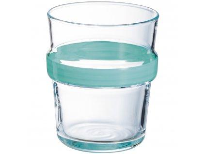 Nízká sklenička Stereo Light Turquoise 270 ml LUMINARC