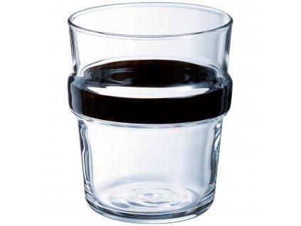 Nízká sklenička Stereo Black 270 ml LUMINARC