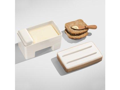Inteligentní bílá máselnice PRACTIC