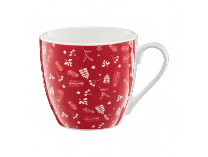 Porcelánový hrnek Pine Full Red 510 ml AMBITION