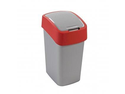 Odpadkový koš Flip Bin Gray / Red 10 l CURVER