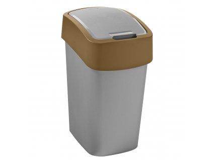 Odpadkový koš Flip Bin Gray / Brown 10 l CURVER
