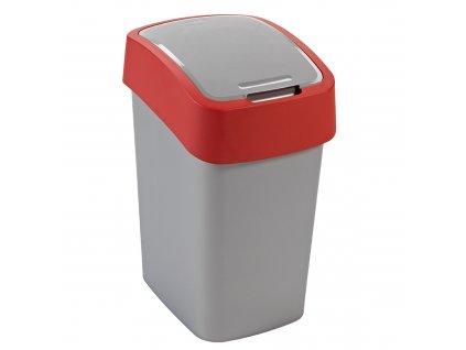 Odpadkový koš Flip Bin Silver / Red 25 l CURVER