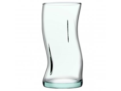 Sada 4 vysokých sklenic Recykling Basic tyrkysový odstín 440 ml PASABAHCE