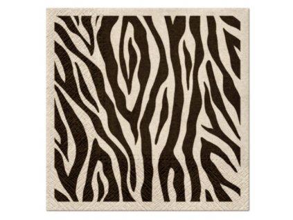 Sada 20 ubrousků Zebra 33 x 33 cm