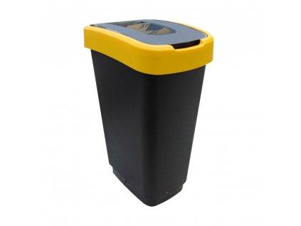 Odpadkový koš na segregaci odpadu Domino Black-Yellow 25 l JOTTA