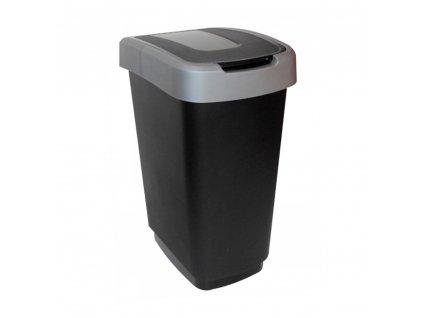 Odpadkový koš na segregaci odpadu Domino Black-Gray 25 l JOTTA