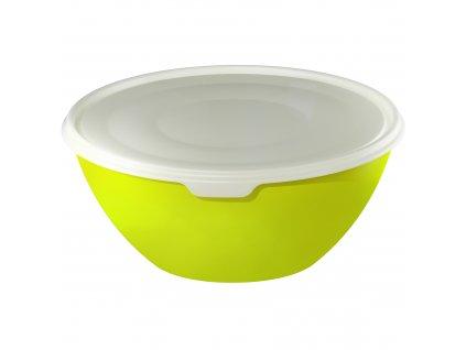 Zelená plastová miska s víkem Caruba 1,8 l ROTHO