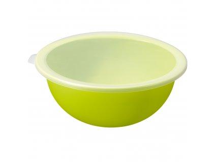 Zelená plastová miska s víkem Caruba 4,8 l ROTHO