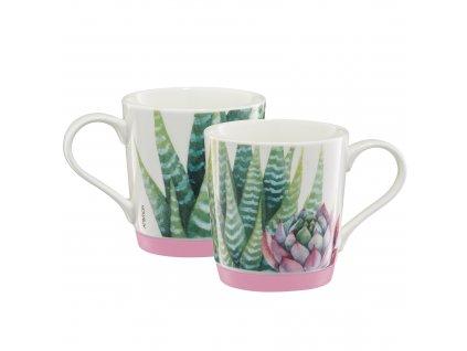 Porcelánový hrnek Cactus Light Pink Silicon 320 ml AMBITION