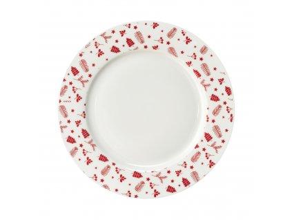 Porcelánový dezertní talíř Pine Red 19 cm AMBITION